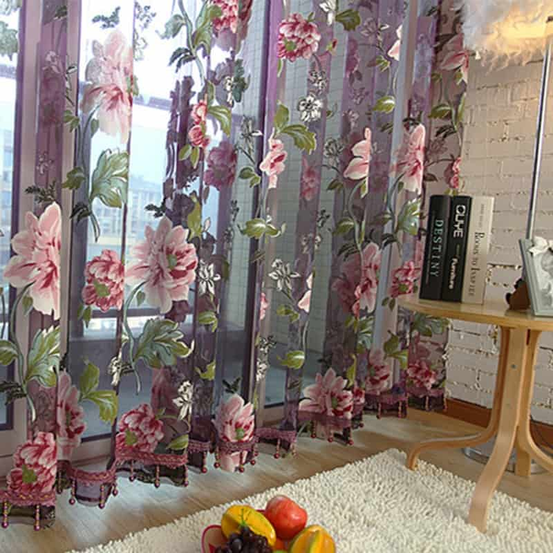 Floral Curtains Luxurious Panel Draperies