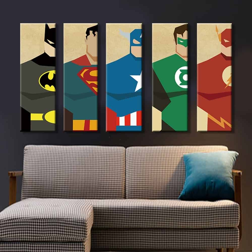 Wall Pictures Superhero Wall Decors
